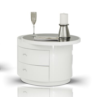 VIG Furniture Modrest 2 Drawer Nightstand