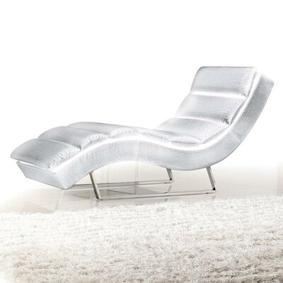 Wade Logan Bandera Leather Chaise Lounge