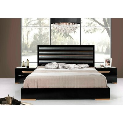 VIG Furniture Modrest Upholstered Panel Bed
