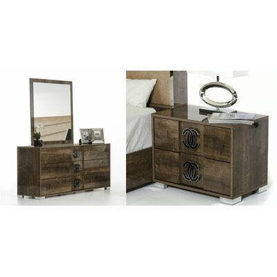 VIG Furniture Modrest Athen 3 Drawer Dres..