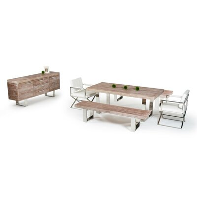Wade Logan Shawnee Elm 6 Piece Dining Set