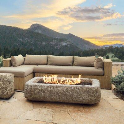 Real Flame Limestone Propane Fire Pit Amp Reviews Wayfair