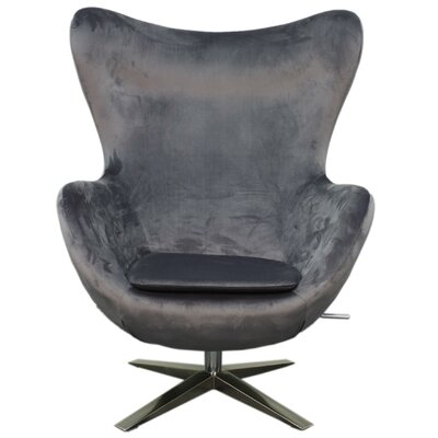 New Pacific Direct Max Fabric Swivel Rocker Lounge Chair