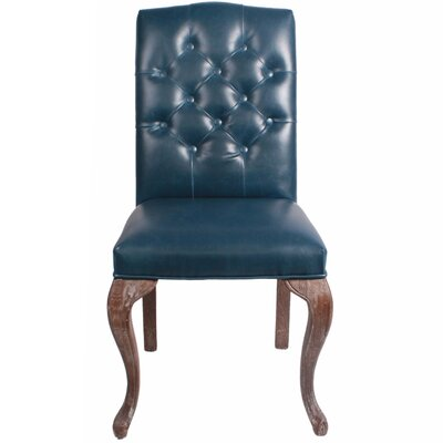 New Pacific Direct Eliette Bonded Leather Side Chair (Set of 2)