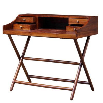 New Pacific Direct Alexi Secretary Desk with Leather Top