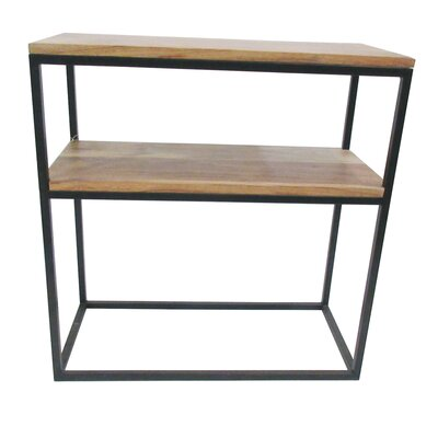 BIDKhome Wood and Iron Two Shelf End Table