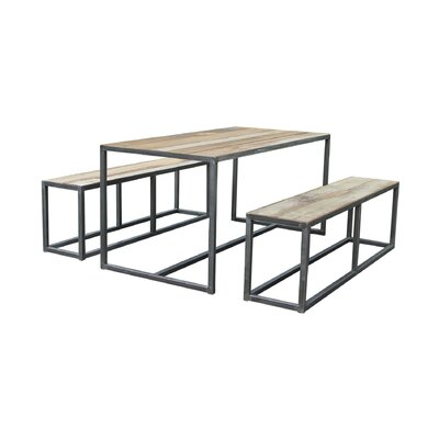 BIDKhome 3 Piece Pub Table Set