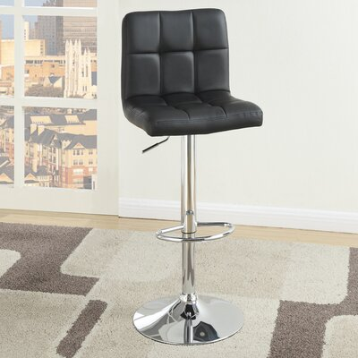 Poundex Adjustable Height Swivel Bar Stool (Set ..