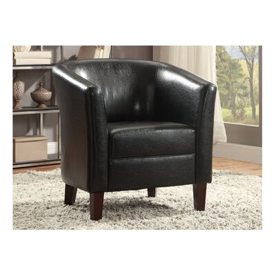Poundex Bobkona Denzil Faux Leather Club Chair