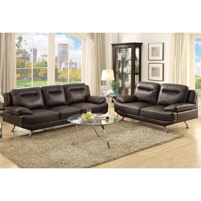 Poundex Bobkona Danville 2 Piece Sofa and Loveseat Set