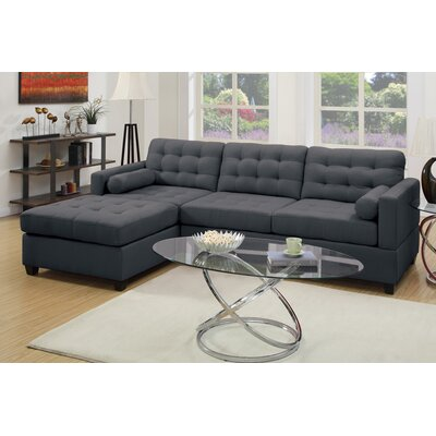 Poundex Bobkona Hardin Reversible Chaise Sectional