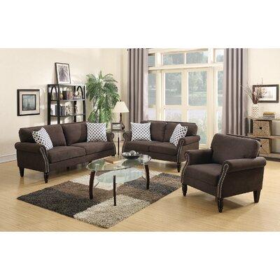 Poundex Bobkona Faymoor 3 Piece Living Room Set
