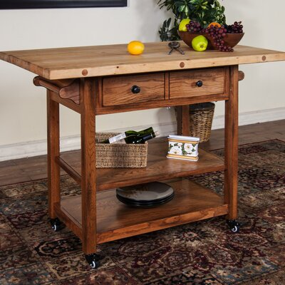 Sunny Designs Kitchen Island with Butcher Block ..