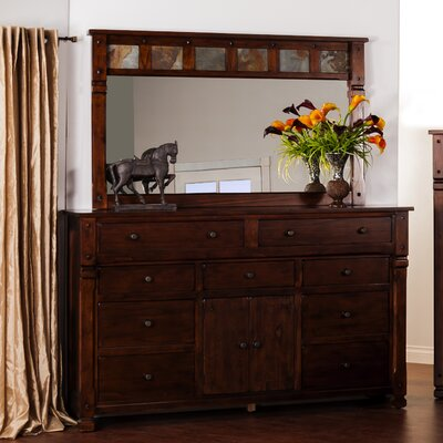 Sunny Designs Santa Fe 9 Drawer Dresser with Mirror