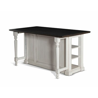August Grove Kitchen Island with Counter Plank Top