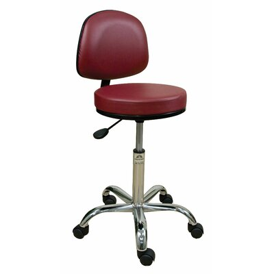 Oakworks Height Adjustable Professional Stool with Backrest