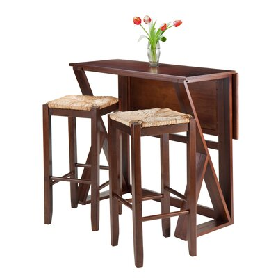 Luxury Home Harrington 3 Piece Counter Height Dining Set