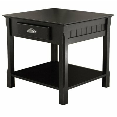 Luxury Home Timber 1 Drawer End Table