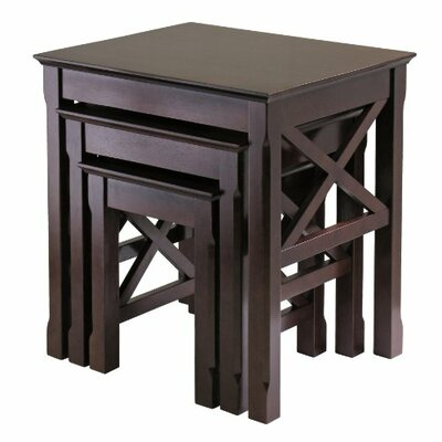 Luxury Home Xola 3 Piece Nesting Tables