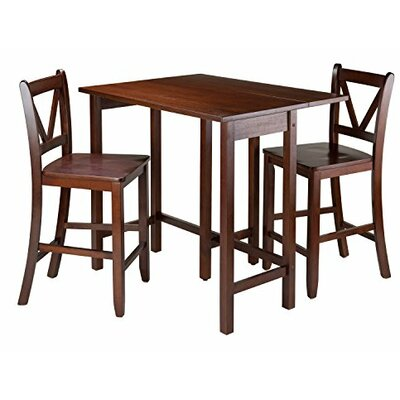 Luxury Home Lynnwood 3 Piece Counter Height Pub Table Set