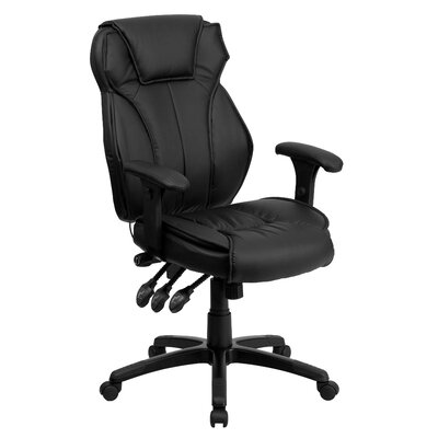 Flash Furniture Leather Executive Chair with Triple Paddle Control
