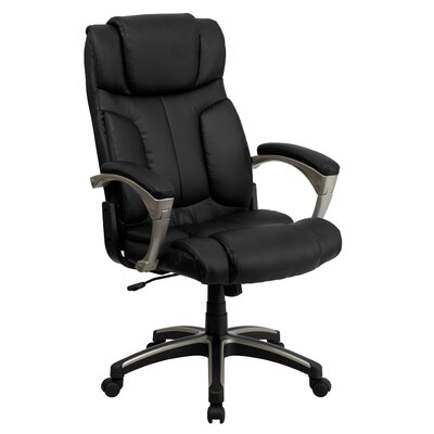 Flash Furniture High-Back Leather Folding Executive Chair with Arms