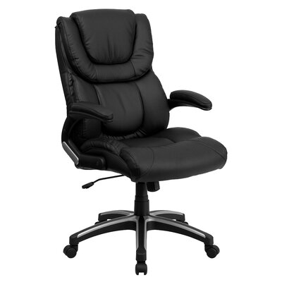 Flash Furniture High-Back Leather Executive Chair with Arms