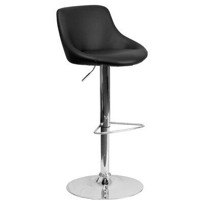 Flash Furniture Contemporary Adjustable Height Swivel Bar Stool