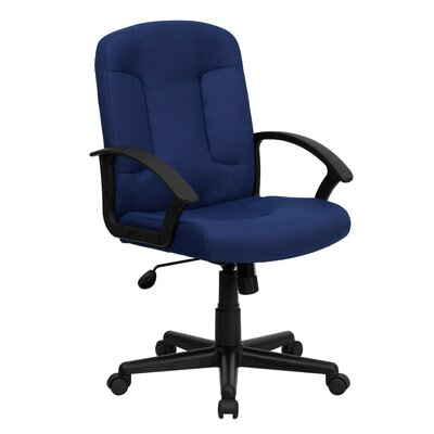 Flash Furniture Mid-Back Fabric Office Chair with Nylon Arms (Set of 2)