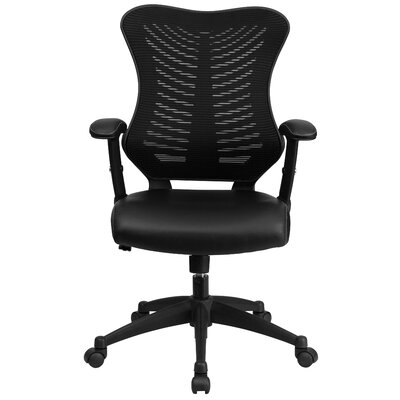 Flash Furniture High-Back Leather Chair with Arms