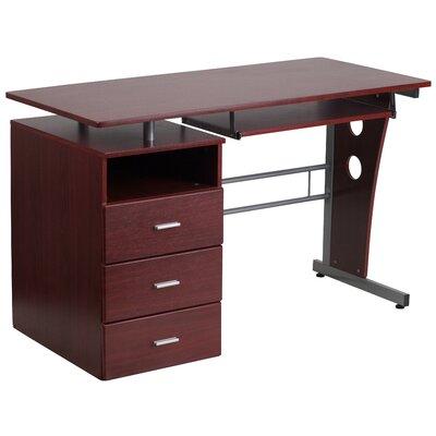 Flash Furniture Computer Desk With 3 Drawer Pedestal