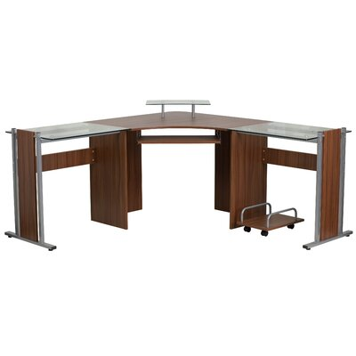 Flash Furniture Corner Desk With Pull Out Keyboard Tray