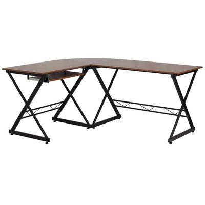 Flash Furniture L-Shape Computer Desk wit..