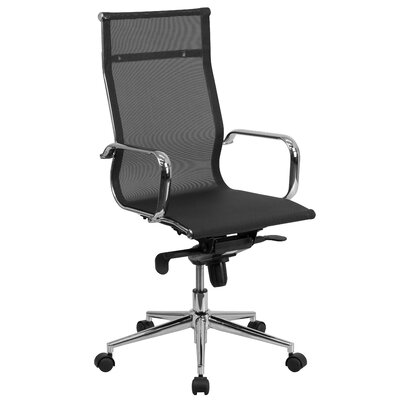 Flash Furniture High-Back Mesh Swivel Conference Chair with Synchro-Tilt Mechanism