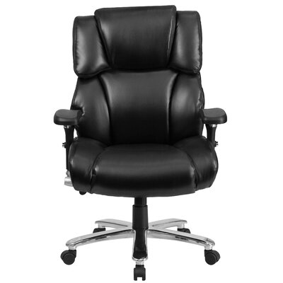 Flash Furniture Hercules Series Leather Executive Swivel Chair with Lumbar Support Knob