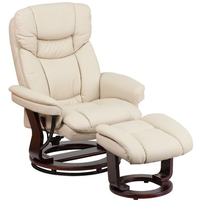 Flash Furniture Leather Recliner and Ottoman