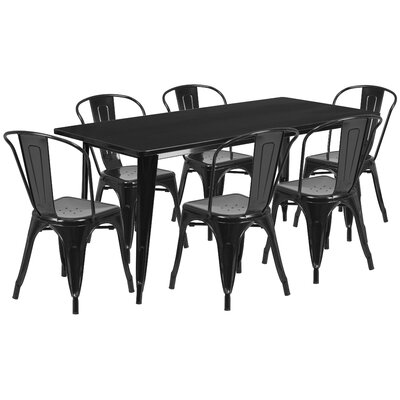 Flash Furniture 7 Piece Dining Set