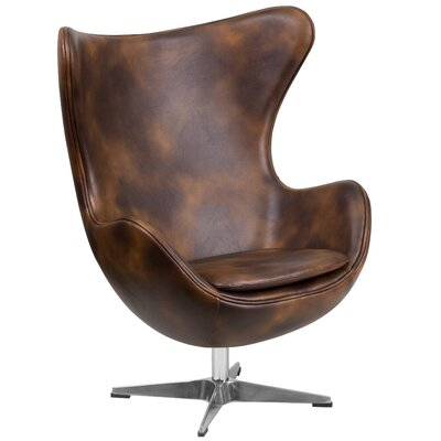 Flash Furniture Leather Egg Lounge Chair
