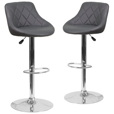 Flash Furniture Adjustable Height Swivel Bar Sto..