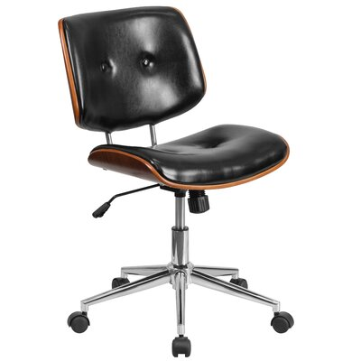 Desk Chair Back Flash Furniture Mid Back Leather Desk Chair U0026 Reviews |  Wayfair