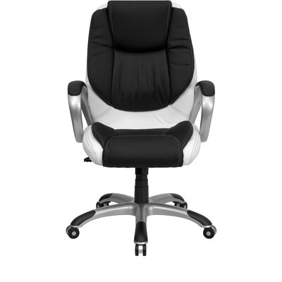 Flash Furniture Mid-Back Leather Swivel Executive Chair (Set of 2)