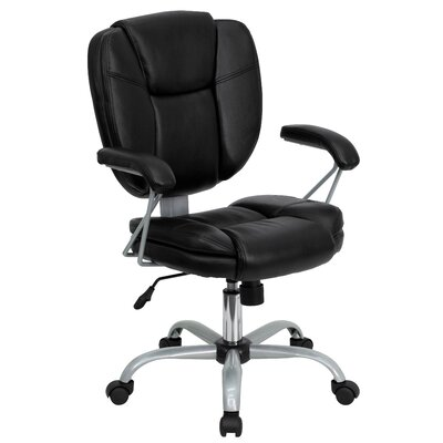 Flash Furniture Mid-Back Task Chair with Platinum Frame Image