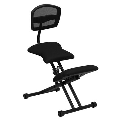Symple Stuff Ergonomic Kneeling Chair with Mesh Back and Fabric Seat