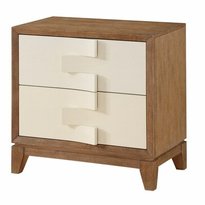 Brayden Studio Sirius 2 Drawer Nightstand