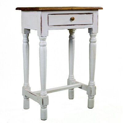 Antique Revival Rosemary Rustic Side Table