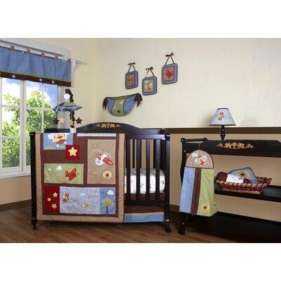 Geenny boutique airplane aviator 12 piece crib bedding set reviews wayfair - Airplane crib bedding sets ...