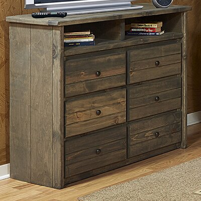 Chelsea Home Furniture Driftwood 6 Drawer Media Chest