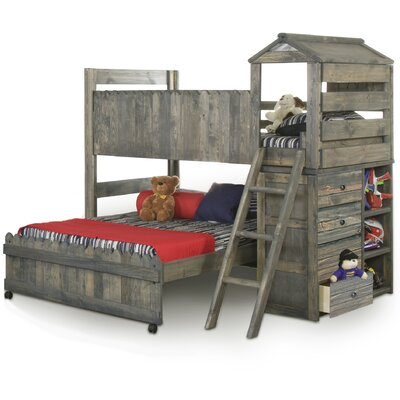 Chelsea Home Furniture Driftwood Fort Twin Over ..