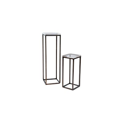 Port 68 Drake Lucite 2 Piece Nesting Tables