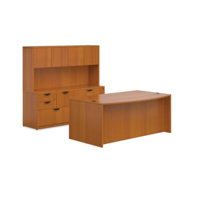 Offices To Go Superior Laminate Credenza Desk with Mixed Storage Unit